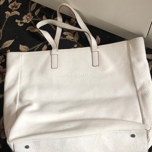 USED Burberry tote bag white